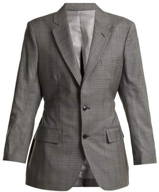 Toga - Single Breasted Prince Of Wales Blazer - Womens - Grey