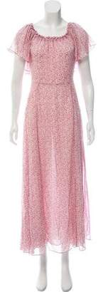 LoveShackFancy Evelyn Silk Maxi Dress