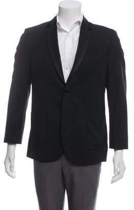 Pierre Balmain Satin-Trimmed Virgin Wool Sport Coat black Satin-Trimmed Virgin Wool Sport Coat
