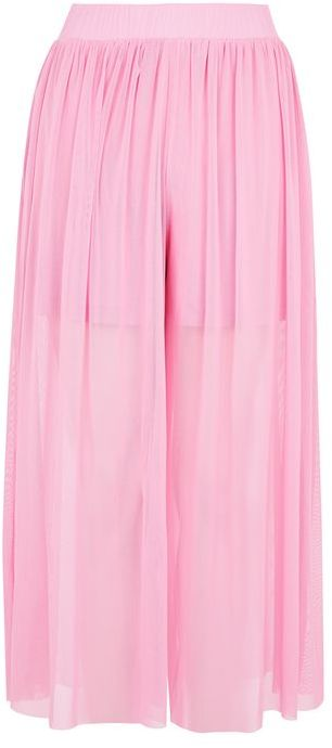 TopshopTopshop Tulle mesh wide leg trousers