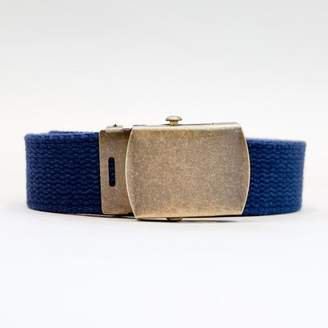 Blade + Blue Navy Blue Cotton Web Military Belt