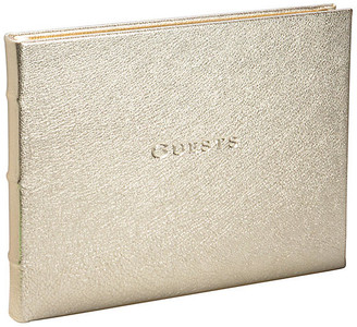 One Kings Lane Classic Guest Book - White Gold