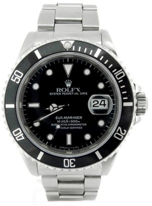 Rolex Submariner 16610 Stainless Steel With Black Dial 40mm Mens Watch $8,550 thestylecure.com