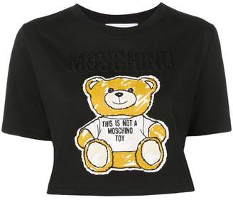 Moschino teddy bear cropped T-shirt
