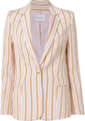 Frame Pink Striped Blazer