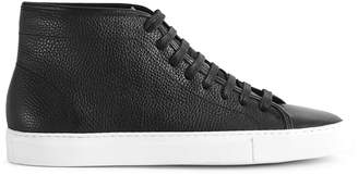 Reiss Delmar Tumbled Leather High Top Sneakers