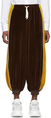 Gucci Brown Chenille Harem Lounge Pants