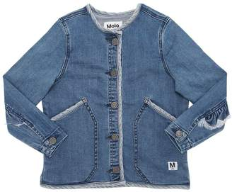 Molo Two Tone Stretch Cotton Denim Jacket