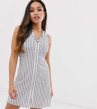 Vero Moda Petite stripe button front dress