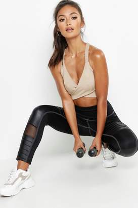 boohoo Petite Fit Panelled Leggings