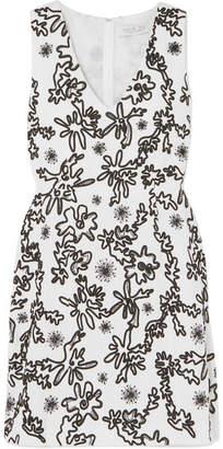 Rachel Zoe Shari Embellished Cotton-gauze Mini Dress - Off-white