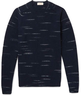 John Smedley Mélange Wool And Cashmere-Blend Sweater