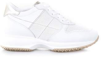 Hogan Athletic White Leather And Canvas Shoes