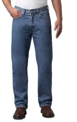 Levi's 505 Regular-Fit Medium Stonewash Jeans