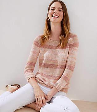 LOFT Shimmer Striped Sweater