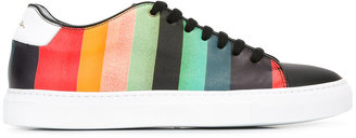 Paul Smith rainbow stripe sneakers $495 thestylecure.com