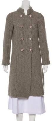 Armani Collezioni Knit Knee-Length Coat