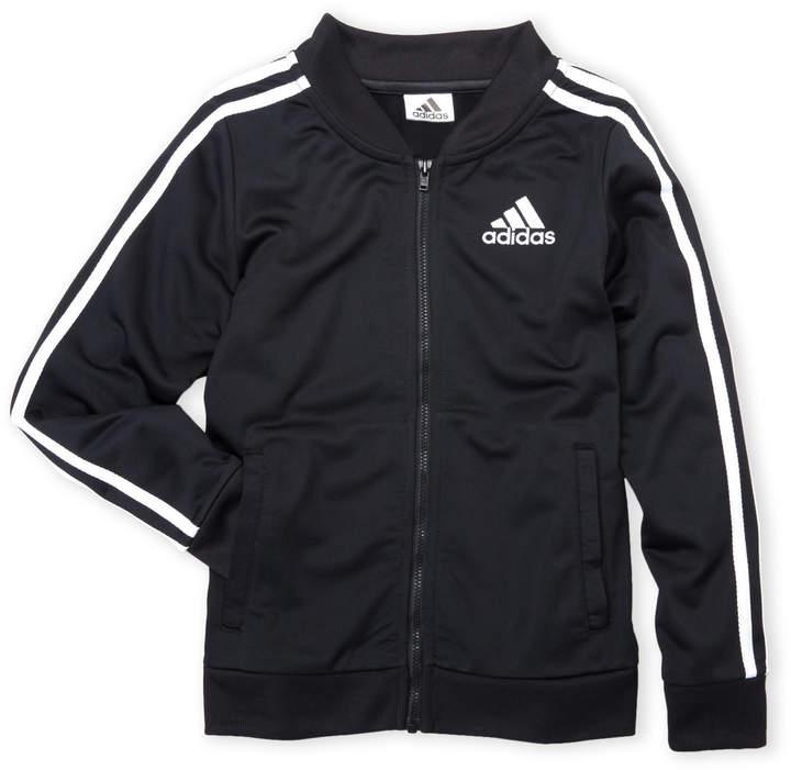 Adidas (Girls 4-6x) Black Tricot Bomber Jacket