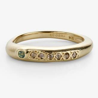 Scosha Regal Band Diamond, Tourmaline, Gold