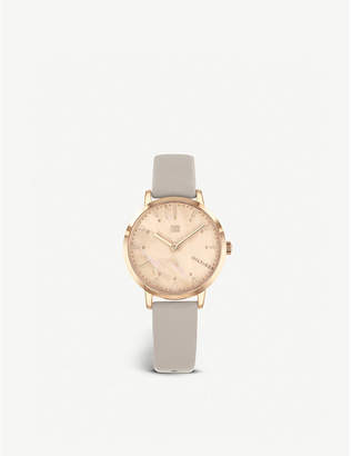 Tommy Hilfiger 1782039 Lily rose gold-plated stainless steel and leather watch