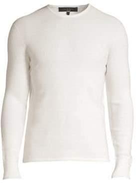 Rag & Bone Davis Extrra Fine Merino Wool& Linen-Blend Sweater