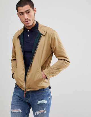 Polo Ralph Lauren Cotton Harrington Jacket Player Embroidery In Tan