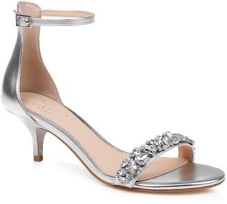Badgley Mischka Dash Embellished Halo Strap Sandal