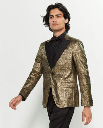 Versace Black & Metallic Gold Blazer