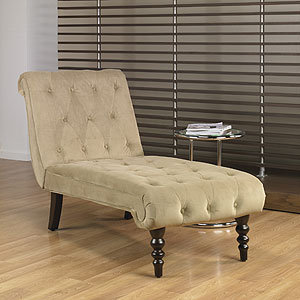 Coffee Victoria Velvet Tufted Chaise