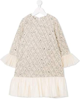 Manoko long-sleeve ruffle dress