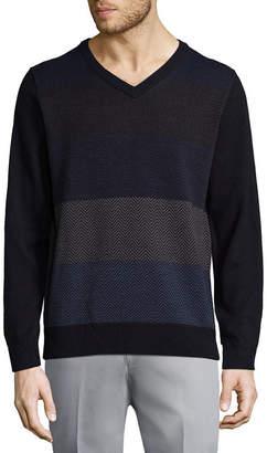 Haggar V Neck Long Sleeve Pullover Sweater