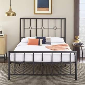 Premier Lucas Platform Metal Bed Frame with Bonus Base Wooden Slat System, Multiple Sizes