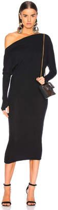 Enza Costa Rib Exposed Shoulder Midi Dress