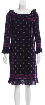 Anna Sui Patterned Wool Dress