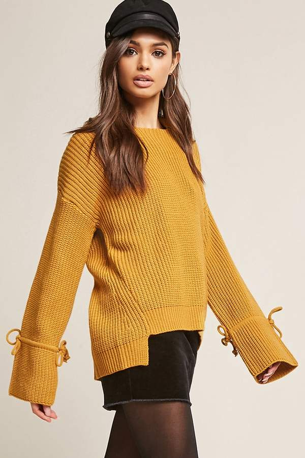 Forever 21 Hooded High-Low Sweater