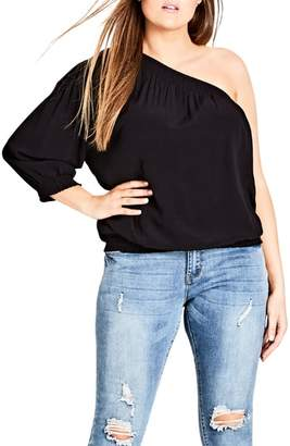City Chic Crazy Love One-Shoulder Top
