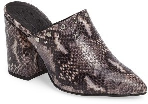 TopshopWomen's Topshop Studded Flared Heel Mule