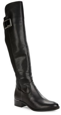 Calvin Klein Cyra Knee-High Leather Boots