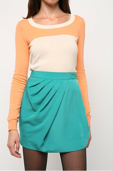 Silence & Noise Solid Wrap Tulip Skirt
