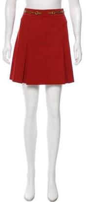 Tory Burch Pleated Mini Skirt