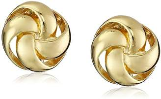 """Anne Klein Classy Clippers"""" -Tone Knot Clip-On Earrings"""