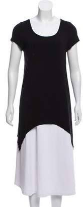 Alice + Olivia Short Sleeve Scoop Neck Tunic