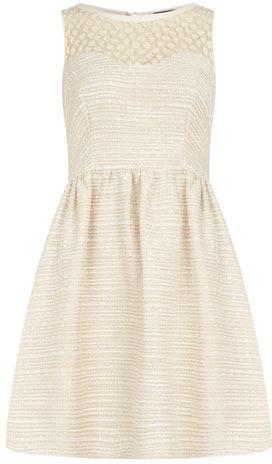Dorothy Perkins Ivory daisy boucle dress