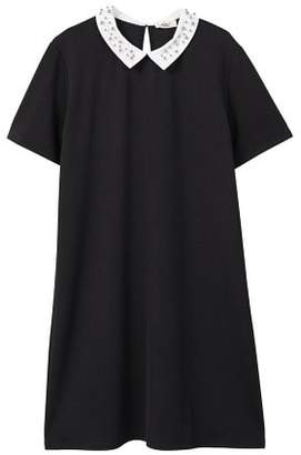 MANGO Babydoll neck dress