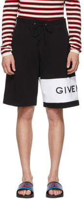 Givenchy Black and White 4G Bermuda Shorts