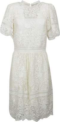Sea New York Puff Sleeved Embroidered Lace Dress