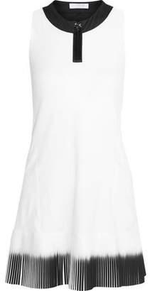 Monreal London Plisse-paneled Stretch-jersey Tennis Dress