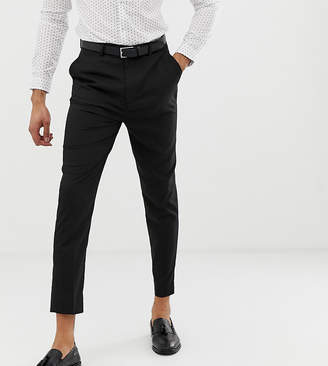 Asos Design Tall Tapered Smart Pants In Black