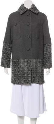 Chanel Wool Tweed-Trimmed Coat