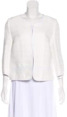 Marchesa Voyage Collarless Tweed Jacket w/ Tags